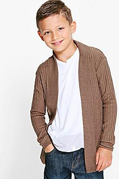 Boys Open Front Knitted Cardigan