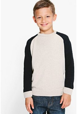 Boys Contrast Knitted Jumper