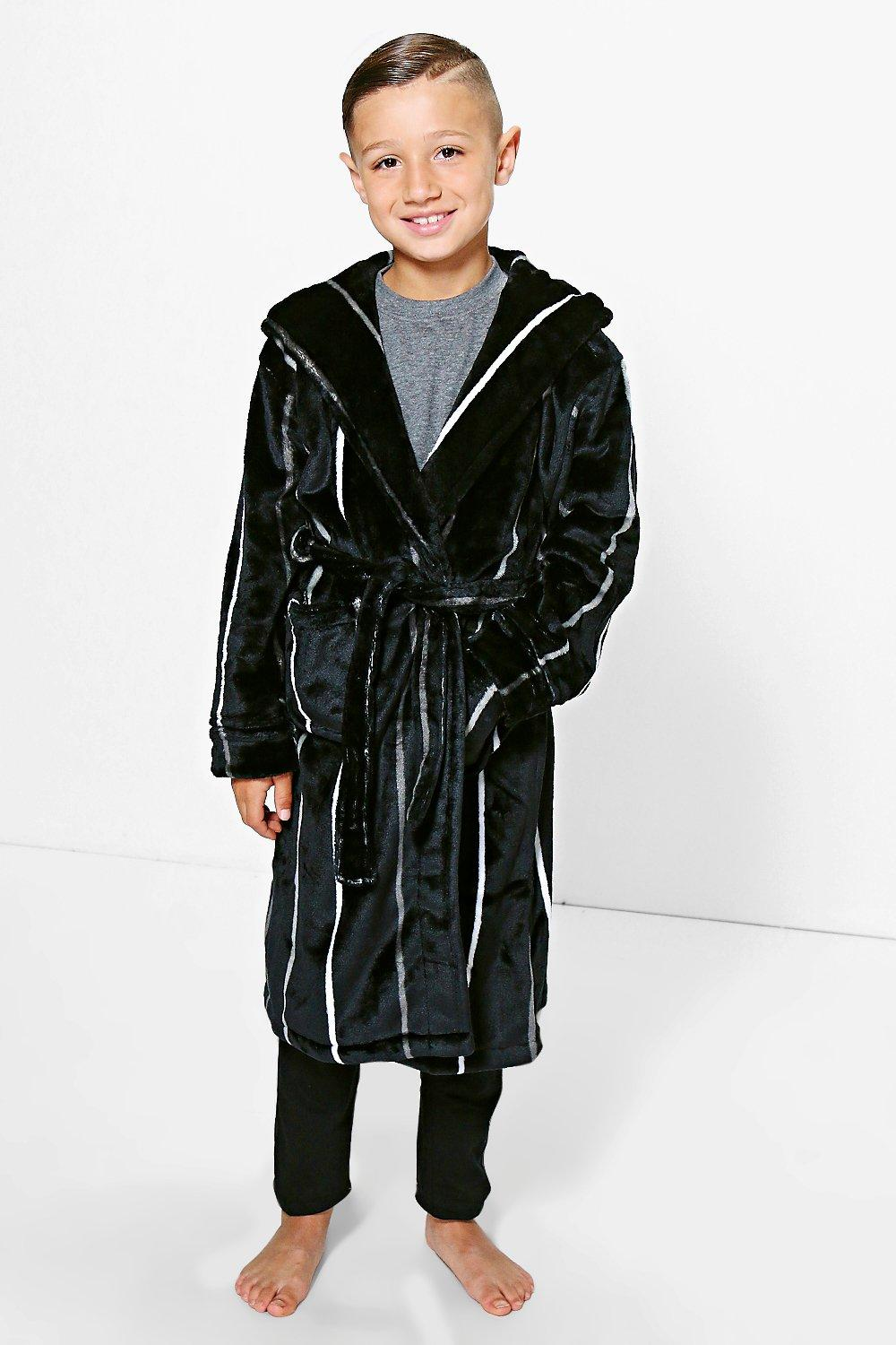 Boys Striped Fleece Robe