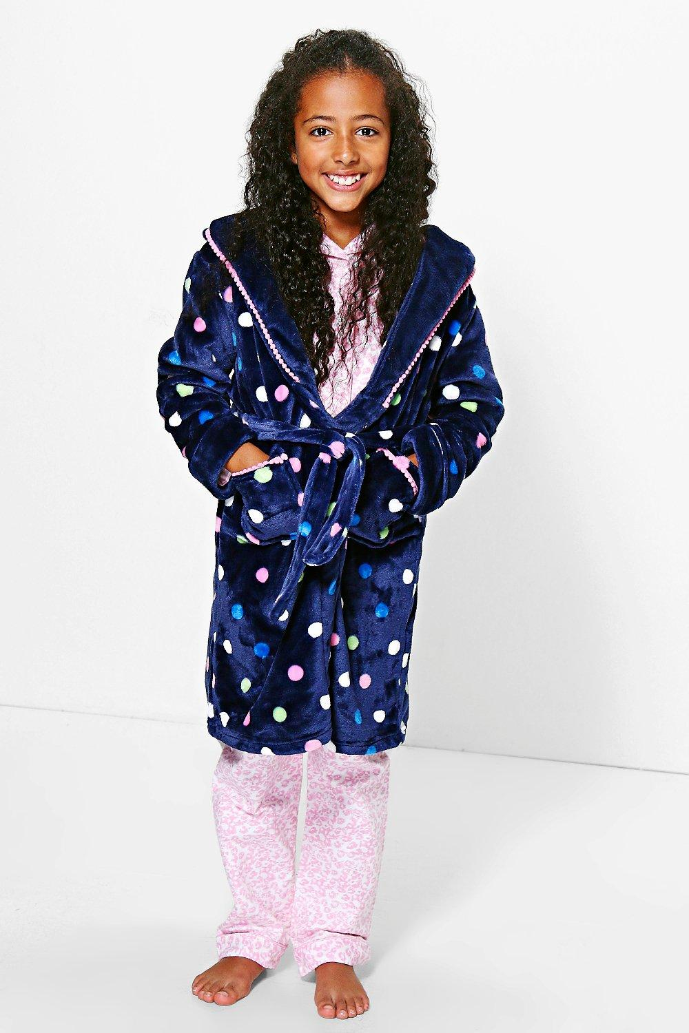 Girls Polka Dot Dressing Gown