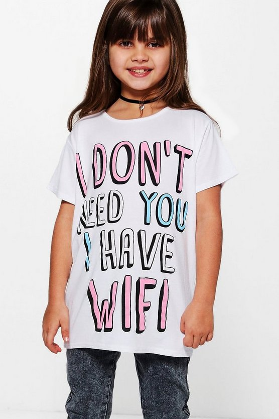 Girls Wifi Tee