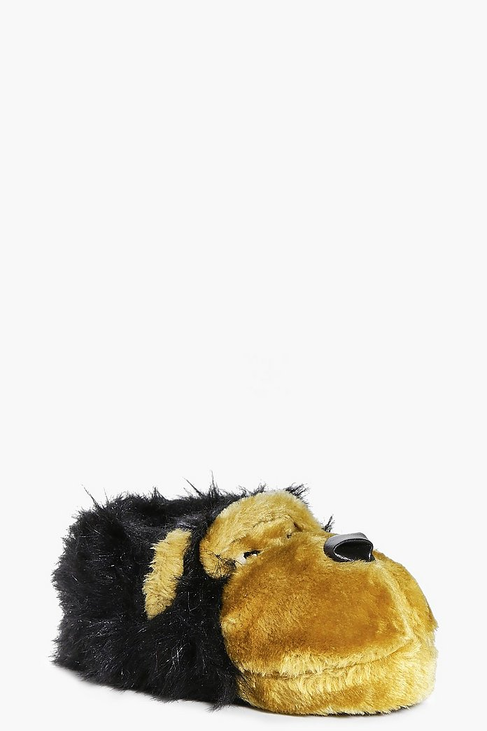 Boys Monkey Fur Slippers