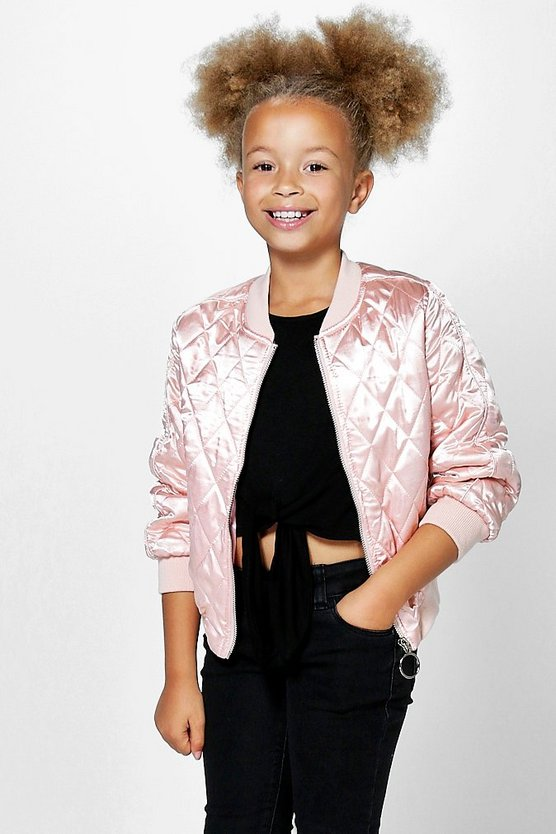 Girls Boutique Quilted Bomber Jacket