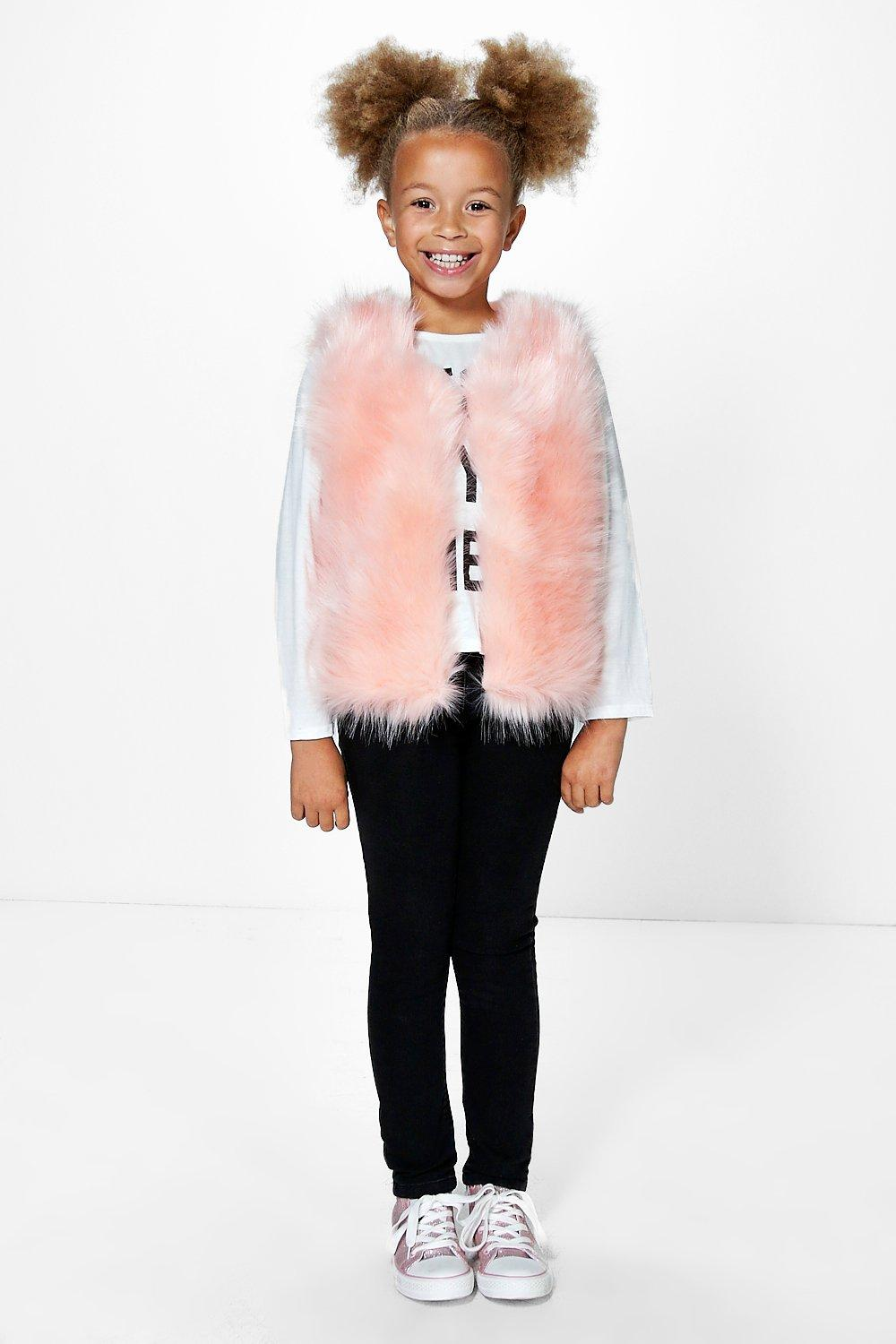 Girls Supersoft Faux Fur Gilet