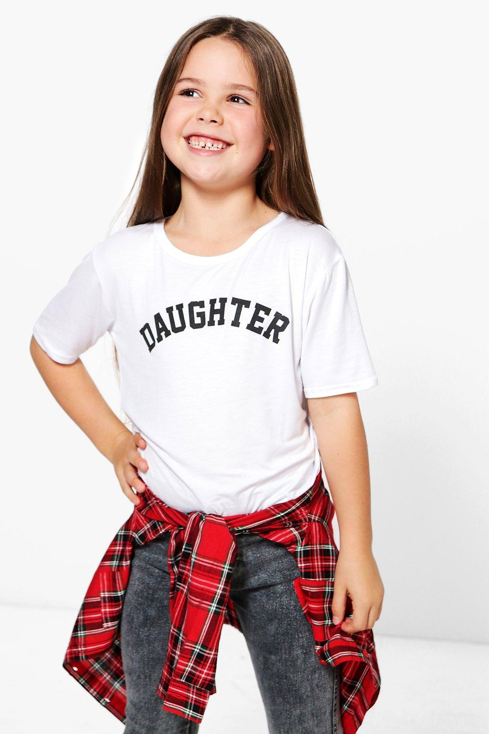 Girls Daughter Slogan Tee