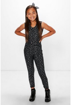 Girls Glitter Party Jumpsuit