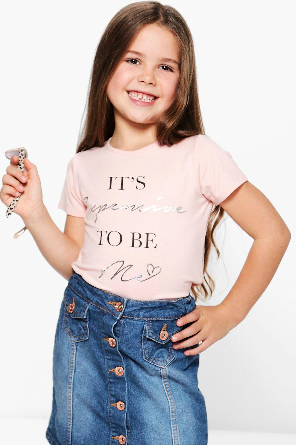Girls Slogan Tee