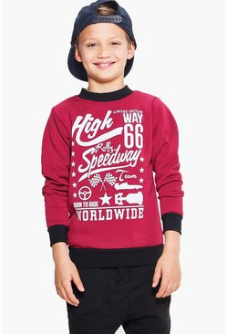 Boys Speedway Sweat Top