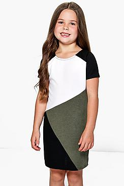 Girls Colour Block Shift Dress