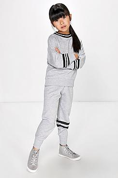 Girls Stripe Design Joggers