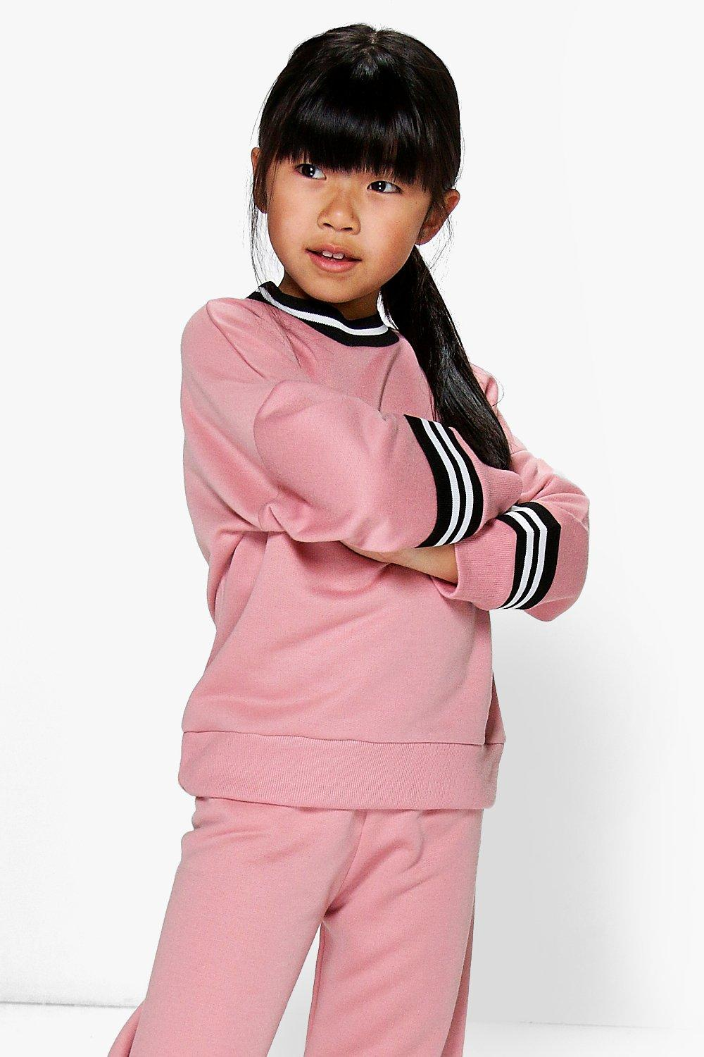 Girls Oversized Sports Sweat Jumper