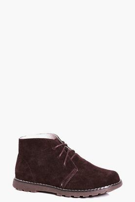 Boys Lace Up Suede Boots