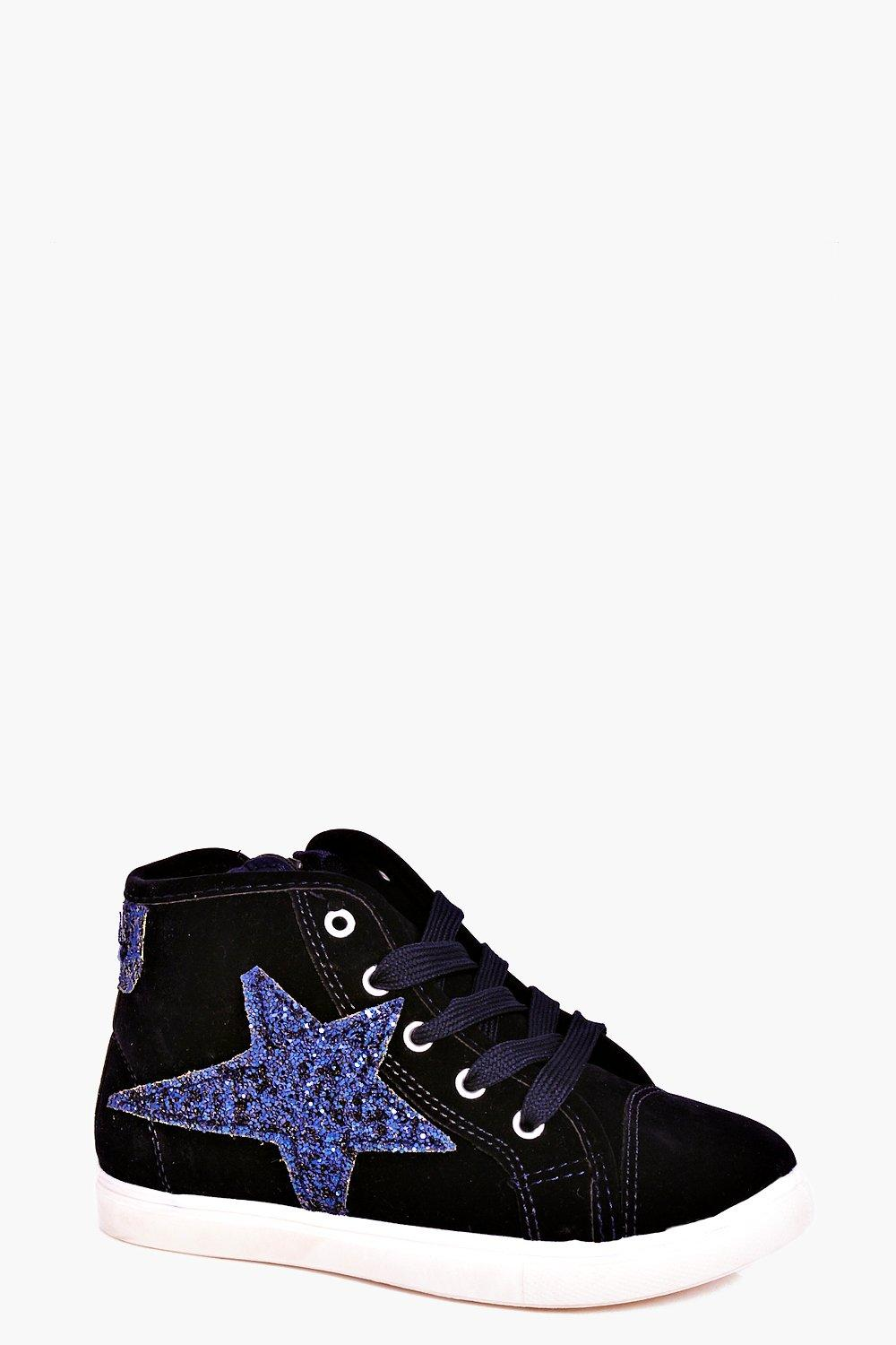 Girls Glitter Star High Top Trainer