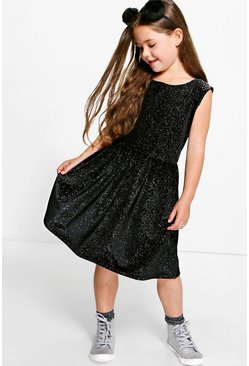 Girls Glitter Skater Dress