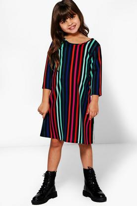 Girls Stripe Shift Dress