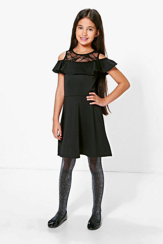 Girls Top Frill Skater Dress