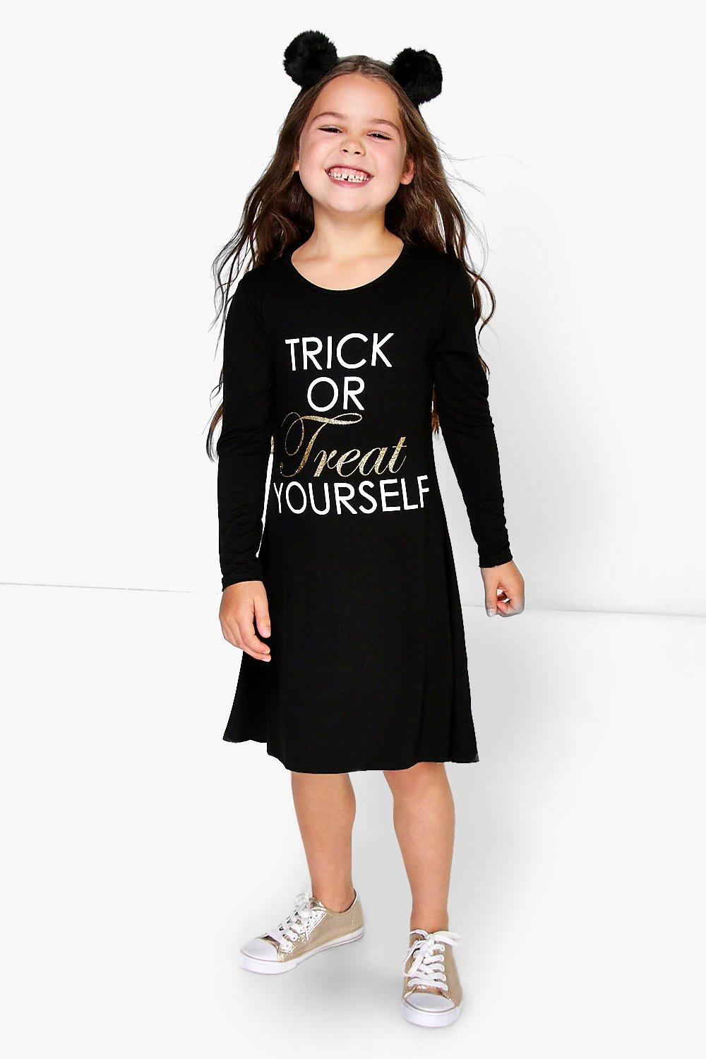 Girls Trick or Treat Swing Dress