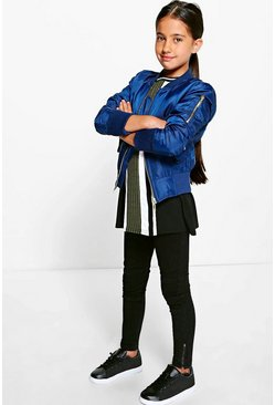 Girls MA1 Padded Bomber Jacket