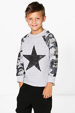 Boys Round Neck Sweat Top
