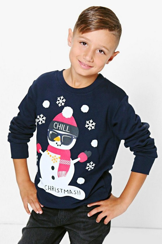 Boys Snowman Jumper