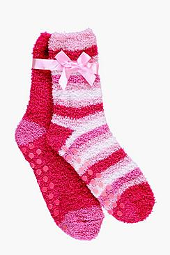 Girls 2 Pack Cosy Socks