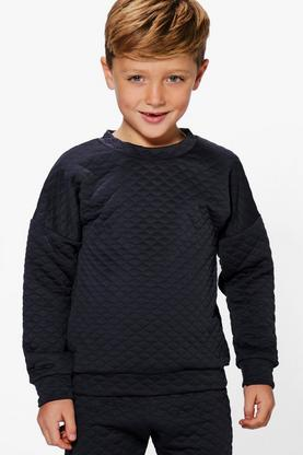Boys Diamond Quilt Sweat Top