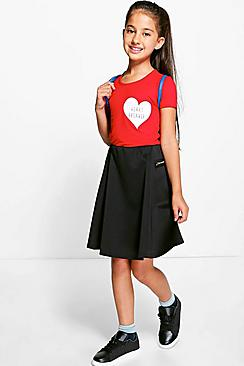 Girls Zip Detail Skater Skirt