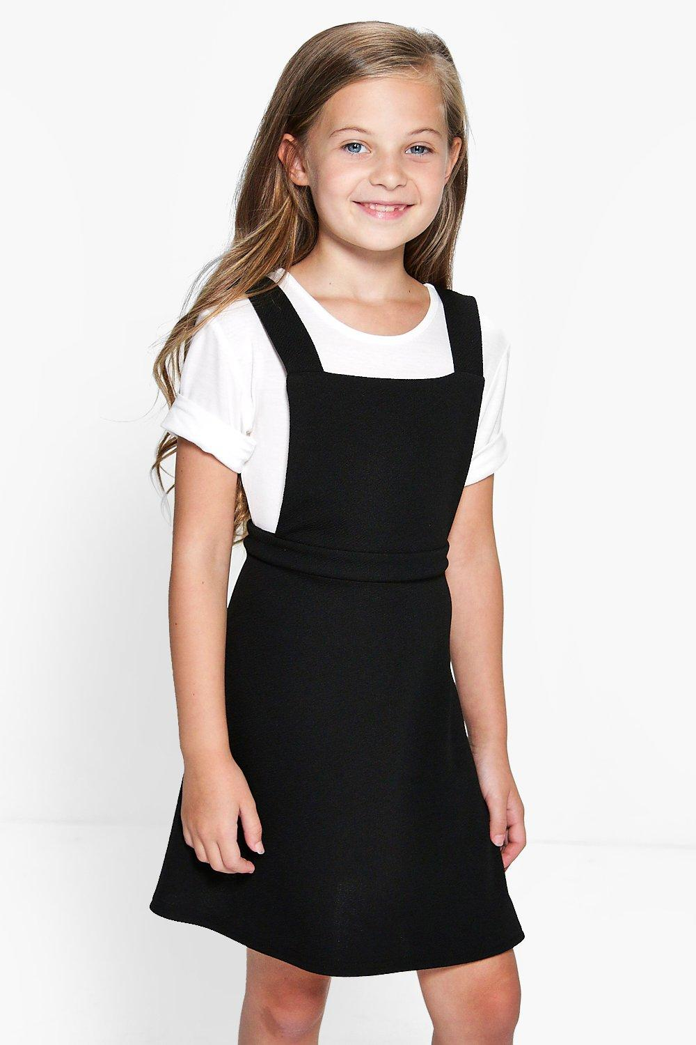 Girls Pinafore Dress & Tee Set