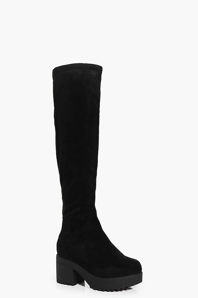 Girls Cleated Knee High Boots