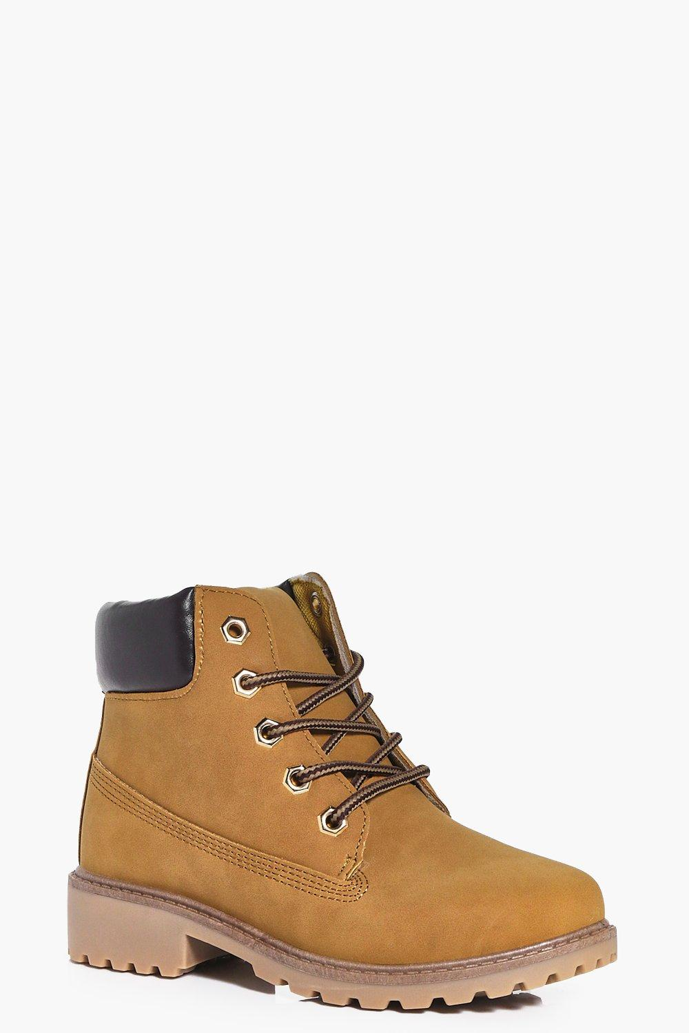 Girls Lace Up Hiker Boots