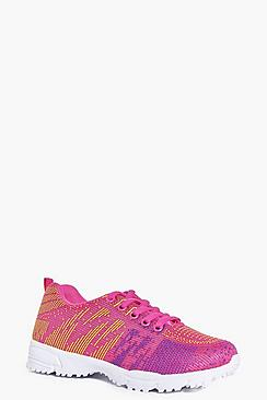 Girls Lace Up Trainers