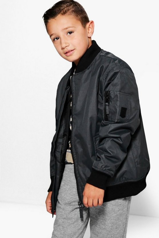 Boys Padded Bomber Jacket