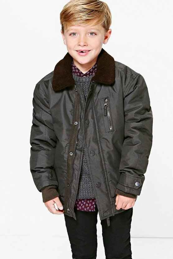Boys Padded Winter Collar Jacket