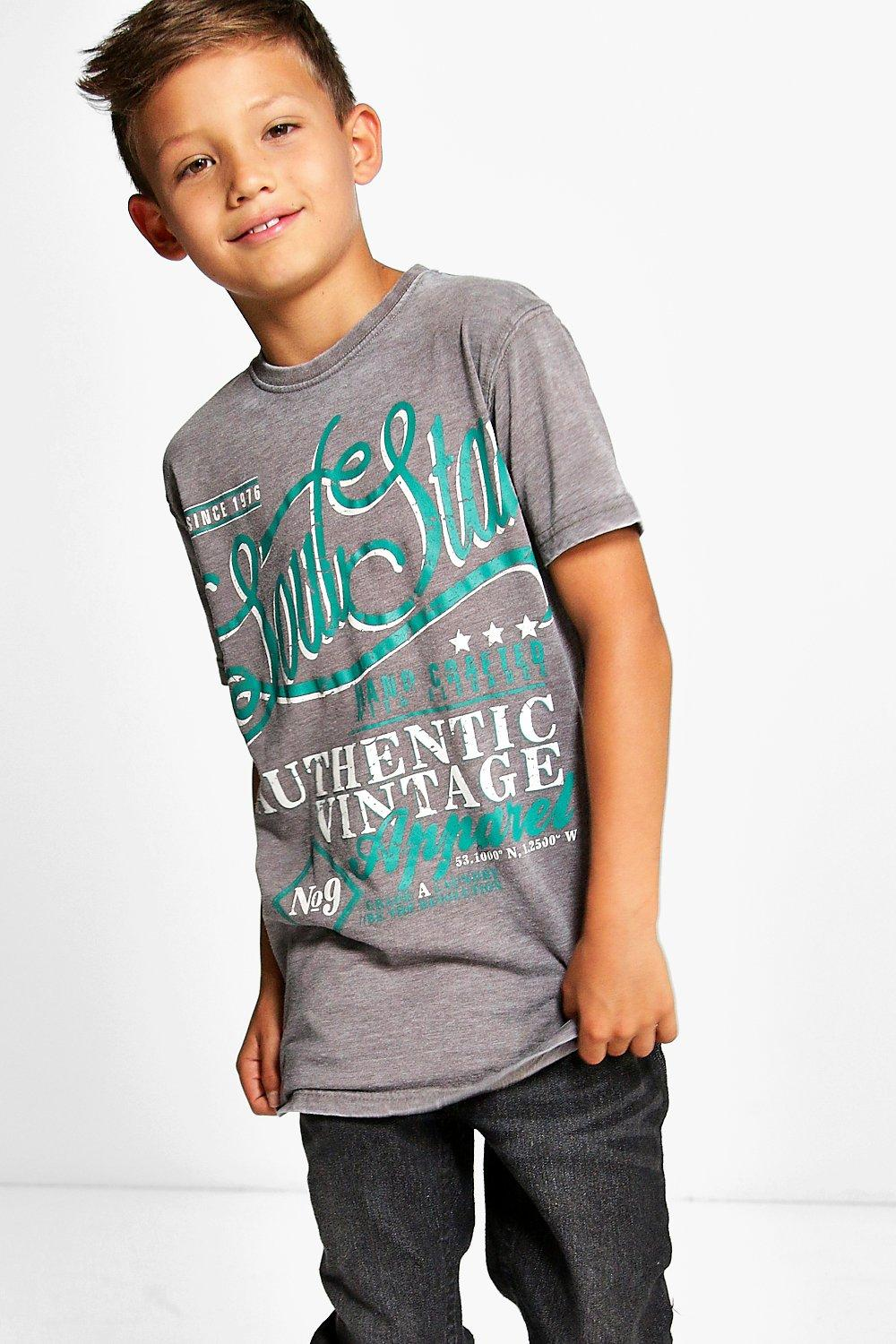 Boys Soul Star Burn Out Tee