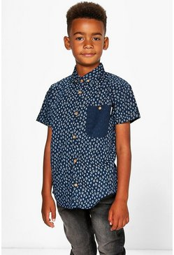 Boys Smart Short Sleeved Shirt