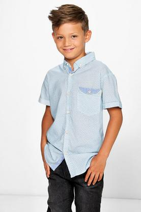Boys Printed Smart Shirt
