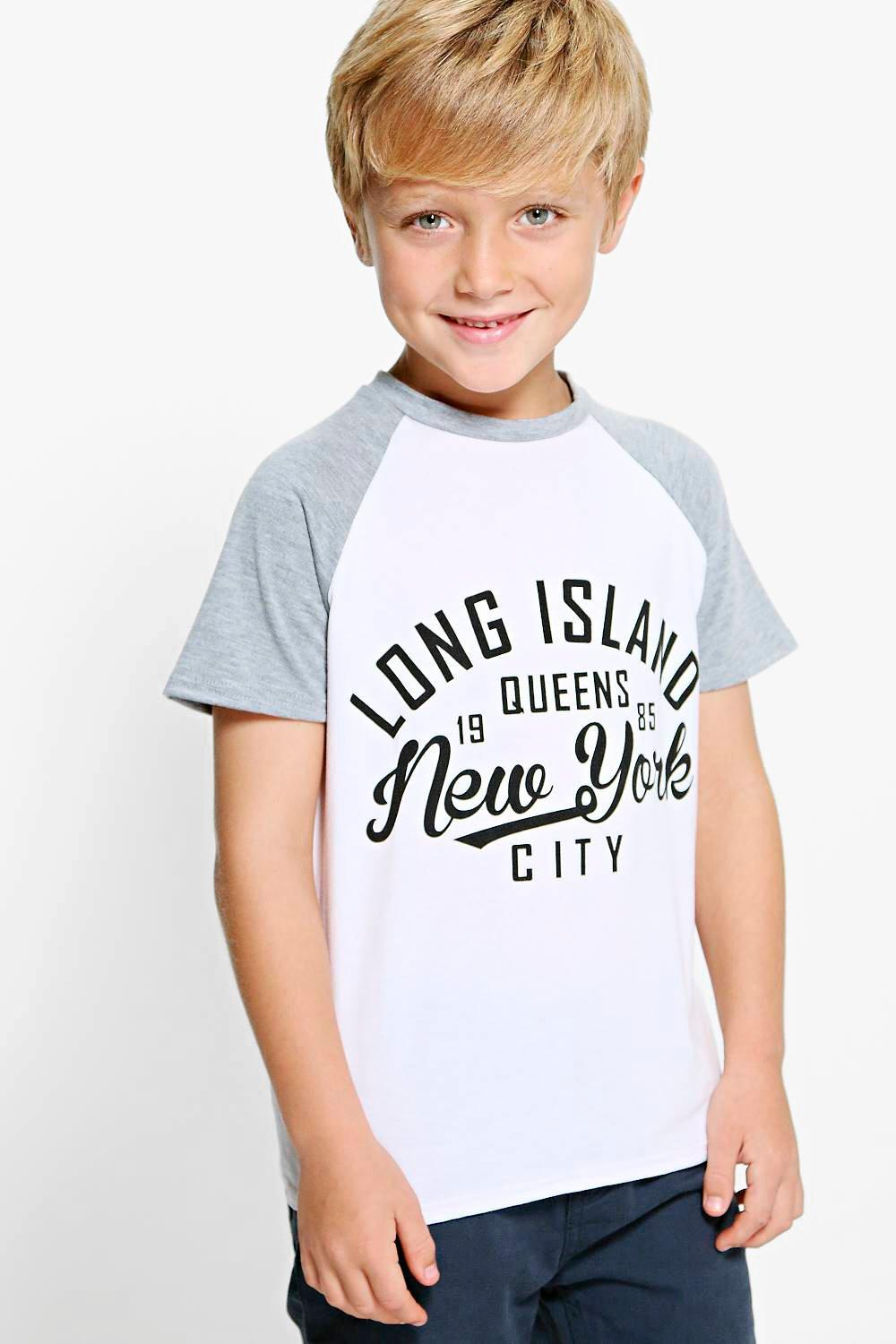 Boys Contrast Long Island Tee