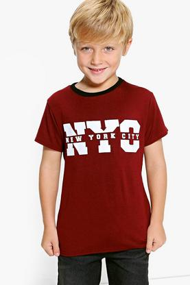 Boys NYC Dip Back Tee