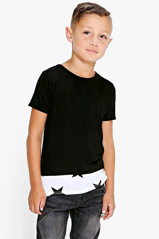 Boys Star Contrast Tee