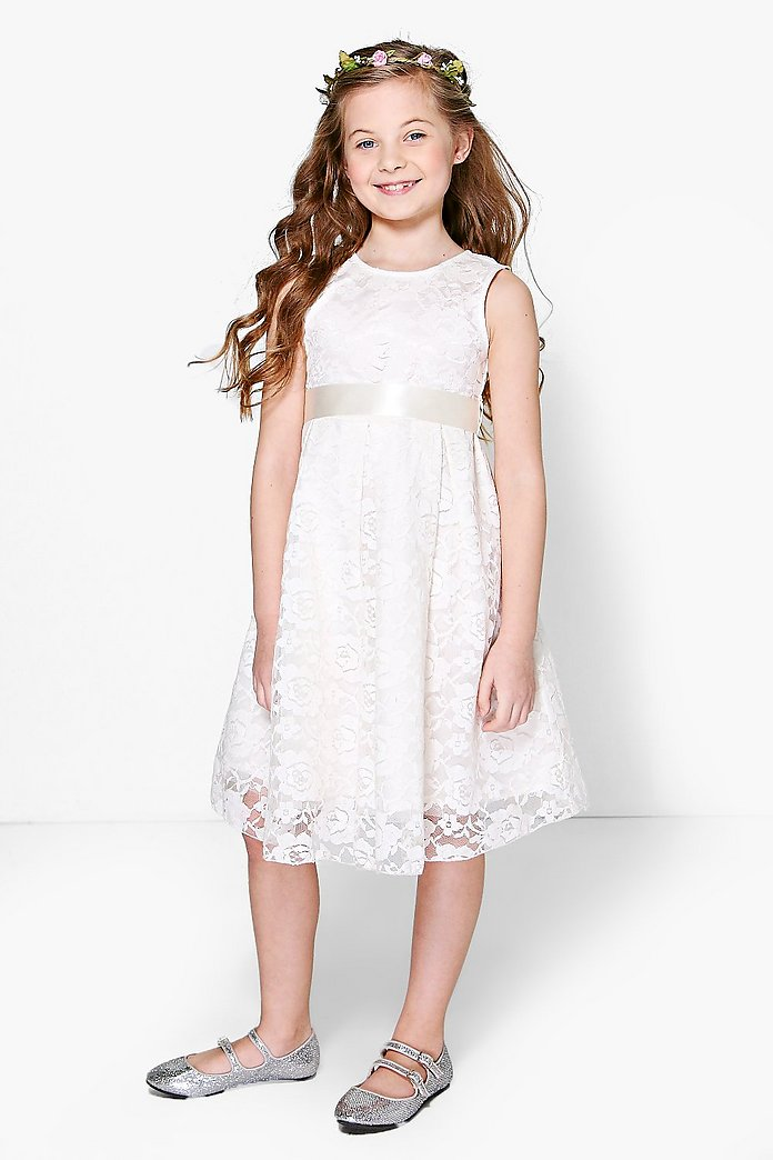Girls Boutique Lace Skater Dress