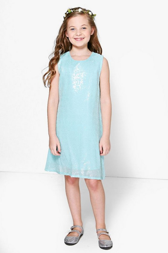 Girls Boutique Sequin Swing Dress