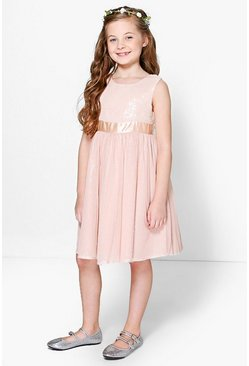 Girls Boutique Sequin Bow Tutu Dress
