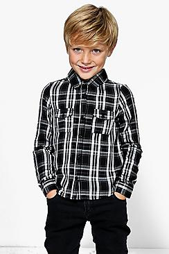 Boys Checked Long Sleeve Shirt