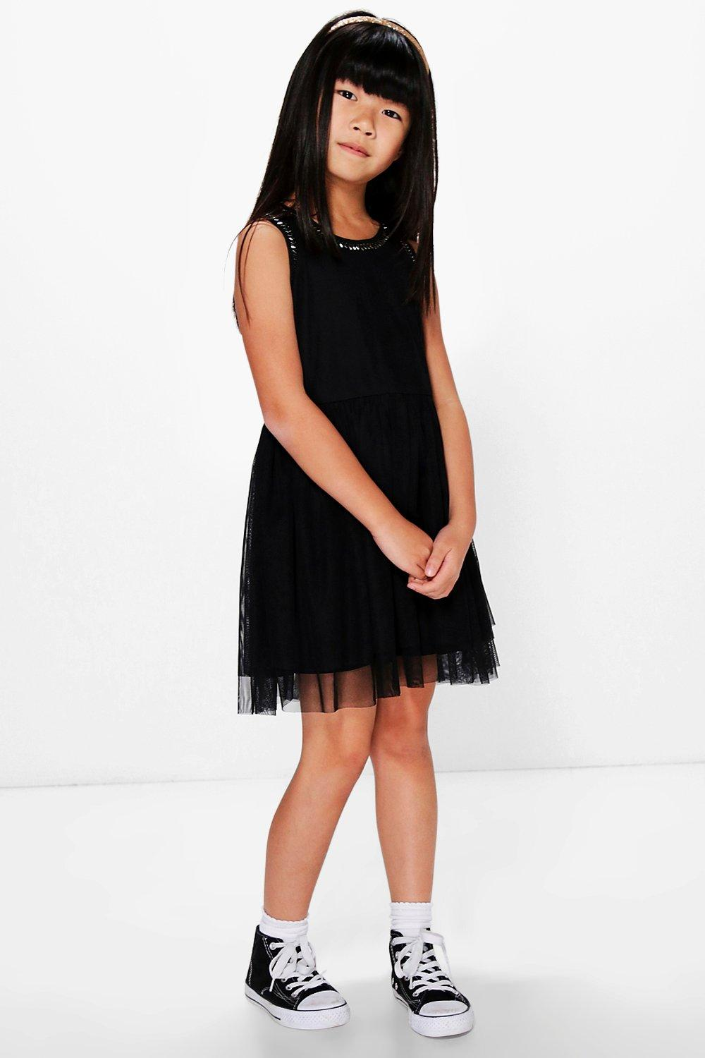 Boutique Embellished Tutu Occasion Dress  black