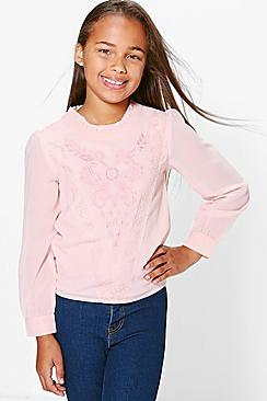 Mädchen Bestickte Bluse aus Spitze - Boohoo.com