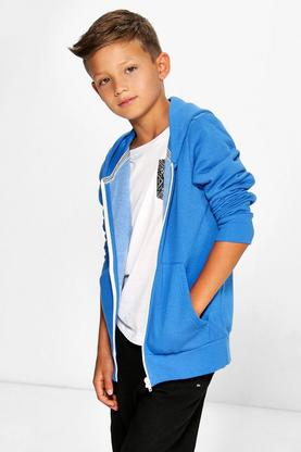 Boys Fleece Lined Hooded Sweat Top