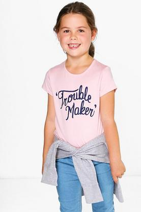Girls Trouble Maker Tee