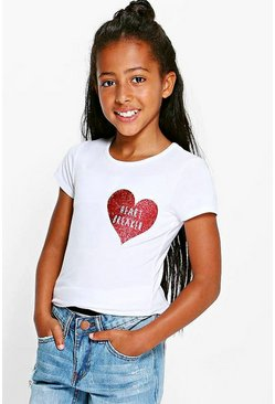 Girls Glitter Heart Breaker Tee