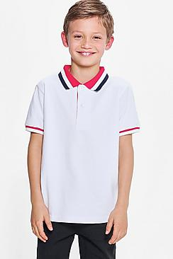 Boys Contrast Polo Shirt