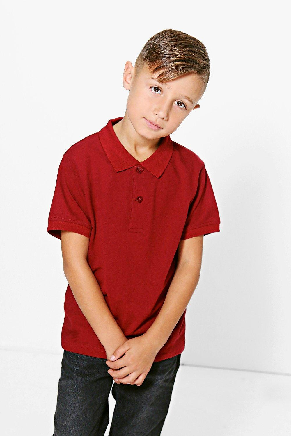 Boys Solid Colour Smart Tee